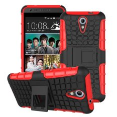 Fashion Heavy Duty Shockproof Dual Layer Hybrid Armor Protective Cover with Kickstand Case for HTC Desire 620 - intl