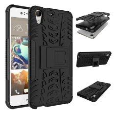 Fashion Heavy Duty Shockproof Dual Layer Hybrid Armor Pelindung Cover dengan Kickstand Case untuk HTC Desire 728-Intl