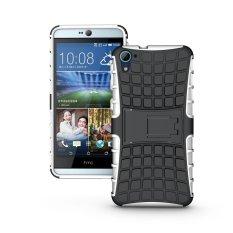 Fashion Heavy Duty Shockproof Dual Layer Hybrid Armor Pelindung Cover dengan Kickstand Case untuk HTC Desire 826-Intl