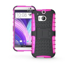 Fashion Heavy Duty Shockproof Dual Layer Hybrid Armor Protective Cover with Kickstand Case for HTC One M8 - intl