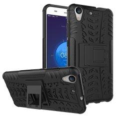 Fashion Heavy Duty Shockproof Dual Layer Hybrid Armor Pelindung Cover dengan Kickstand Case untuk Huawei Honor 5A/Y6II Y6 2/Holly 3-Intl