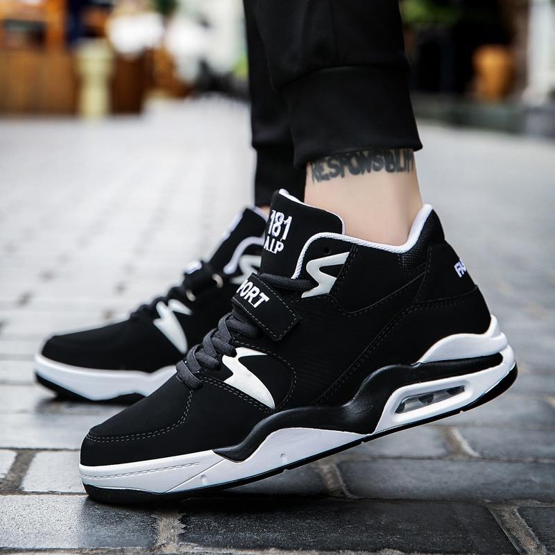Spesifikasi Fashion Kepribadian All Match Sepatu Casual Pria Sepatu Basket Pria Untuk Yang Naik Turun Olahraga Outdoor Sepatu Sepatu Siswa Korea Intl