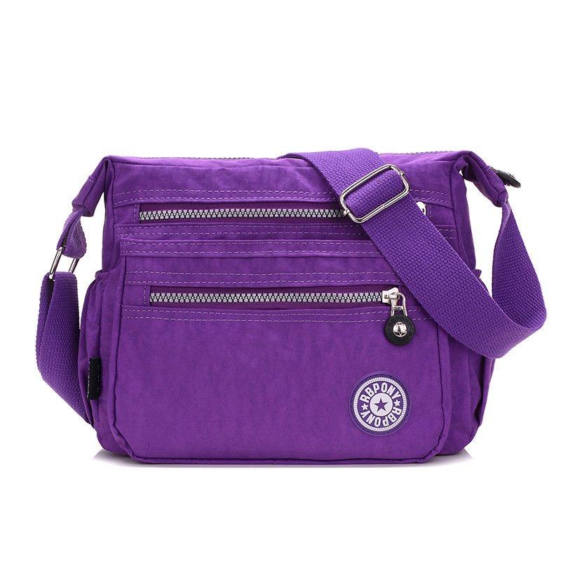 Jual Fashion Klasik Wanita Sarung Bahu Tahan Air Nylon Tas Selempang Tubuh Sarung Anggur Violet Oem Original