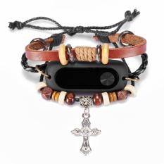 Toko Fashion Knitting Salib Yang Diukir Beaded Gelang Gaya Replacement Watch Band Wristband Wrist Strap For Mi Band 2 Fitness Tracker Watchband Online Di Tiongkok
