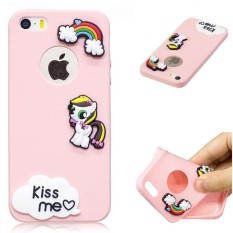 Rp 38.310. Modis Lucu Permen Ramping Pelindung Kulit Karet TPU Sarung Penyangga Kasus Telepon untuk Apple iPhone SE ...