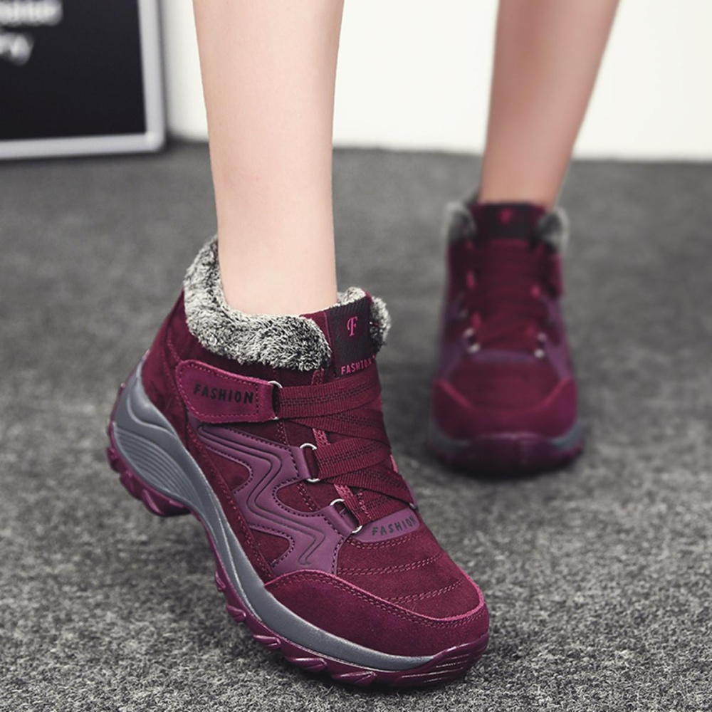 Rp 326.000. Fashion Musim Dingin Lapisan Bulu Tetap Hangat Non Slip Olah  Raga Sepatu ... 87ee9848cc