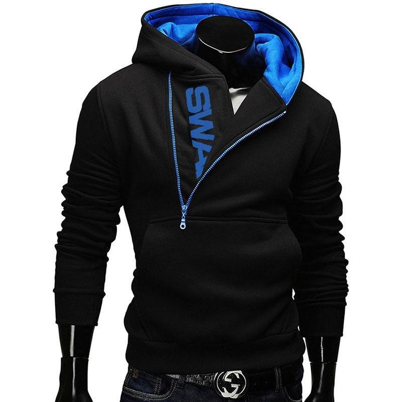 Promo Fashion Pria Kasual Hoodies 6 Warna Olahraga Pria Jogging Sweatshirt Pria Running Ritsleting Mantel 6Xl Intl Oem Terbaru