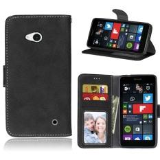 Fashion Pelindung Berdiri Dompet Dompet Kartu Kredit Pemegang Magnetic Flip Folio TPU Lembut Bumper Kulit Case Penutup untuk Nokia Microsoft Lumia 640-Intl