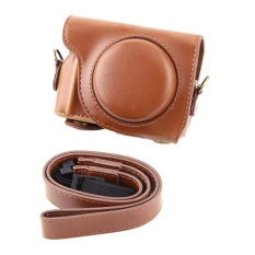 Harga Fashion Pu Leather Camera Case Bag Dengan Bahu Strapfor Canon G9X Camera Brown Intl Murah