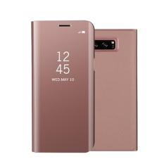 Modis Anti Guncangan Ultra Tipis Elektroplating Pu Case Sarung Cermin Bebas Lipat Anti-Menggaruk Pelindung Case untuk Samsung Galaksi Note 8 Warna: emas