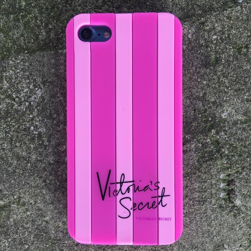 Fashion Stripe Phone Case untuk IPhone 5 6 6 S 7 Plus Soft Silicone Cover Warna: Pink Model: IPhone 7 Plus-Intl