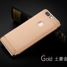 Fashion Three-in-one Pelapisan Anti DROP Shell Cover Case untuk Huawei Honor V8 (emas) -Intl