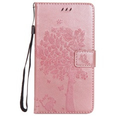 Fashion Tree Protective Stand Wallet Purse Credit Card ID Holders Magnetic Flip Folio TPU Soft Bumper PU Leather Ultra Slim Fit Case Cover for Huawei Ascend Mate7 - intl