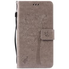 Fashion Tree Protective Stand Wallet Purse Credit Card ID Holders Magnetic Flip Folio TPU Soft Bumper PU Leather Ultra Slim Fit Case Cover for Huawei Honor 5A / Y6II Y6 2 / Holly 3 - intl