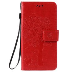 Fashion Tree Protective Stand Wallet Purse Credit Card ID Holders Magnetic Flip Folio TPU Soft Bumper PU Leather Ultra Slim Fit Case Cover for Huawei Honor Holly 2 Plus / Enjoy 5 / Y6 Pro - intl