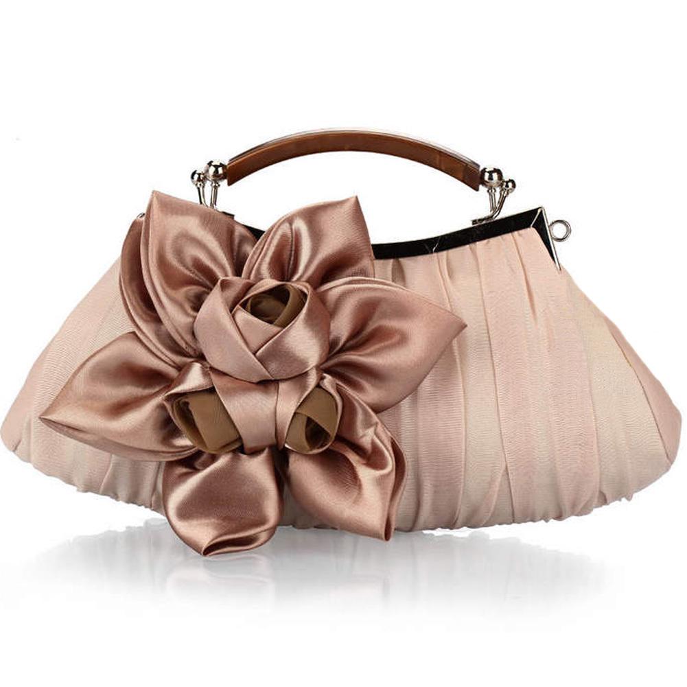 Harga Fashion Wanita Tas Pesta Bunga Bulan Pernikahan Satin Kopling Aprikot Internasional Unbranded Baru