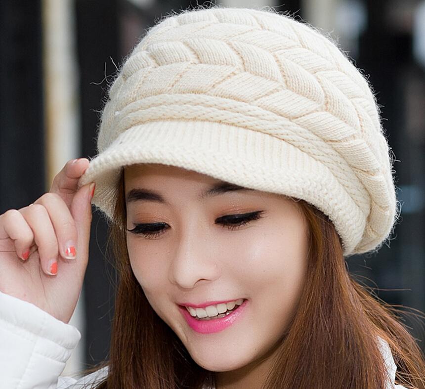 Review Toko Fashion Wanita Topi Ski Rajut Wol Hangat Korea Saat Musim Dingin Topi Pet Internasional