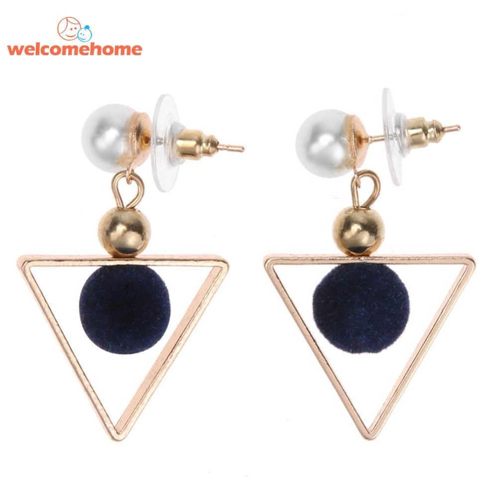 Buy Sell Cheapest 46 Temperamen Segitiga Best Quality Product Anting Gantung Gold Modis Wanita Kepribadian Geometris Jatuh Internasional