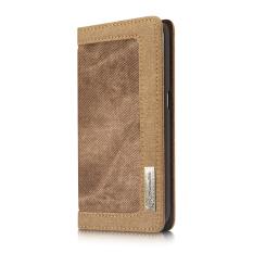 Modis Case Tahan Air Denim + Kanvas Penyangga Casing Ponsel Magnetik Dompet Flip Case untuk Samsung