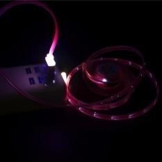 Fashiondeal Lampu LED USB Tipe-C Charger Tanggal Kabel Pengisi Kabel untuk Samsung Galaxy S8-Intl