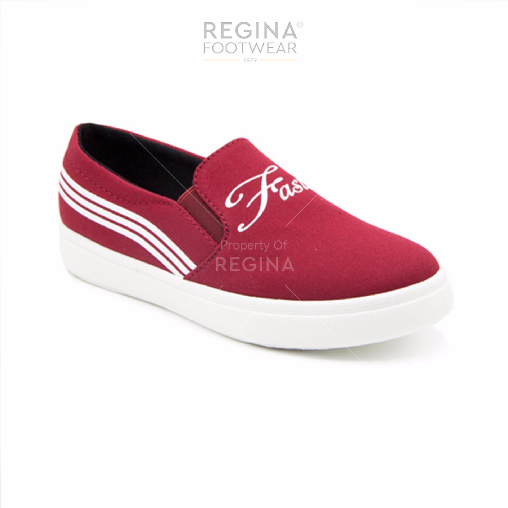 Diskon Faster Ladies Slip On Shoes 1608 07 Burgundy