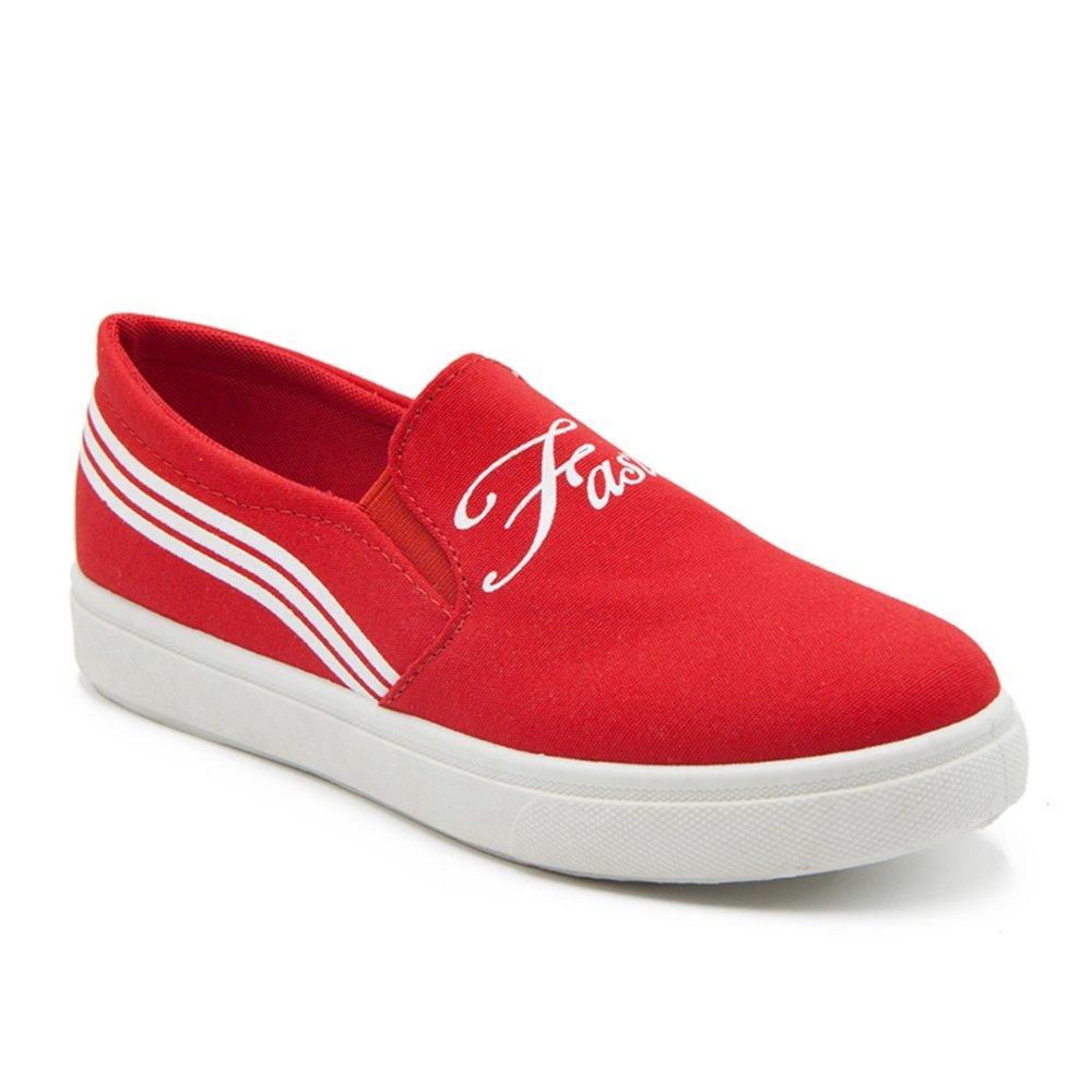 Penawaran Istimewa Faster Sepatu Kanvas Cewek 1608 07 Merah Putih Terbaru