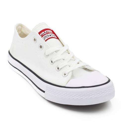 Spesifikasi Faster Sepatu Sneakers Kanvas Wanita 1603 03 Putih Baru