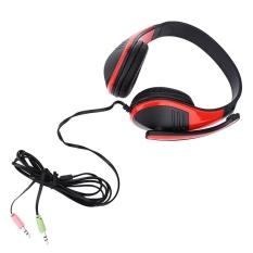 FE-118 3.5mm Plug Komputer Gaming Headset Stereo Hi Fi Musik Headphone dengan Bantal Telinga Yang Lembut untuk PC Meja Laptop Desktop-Internasional