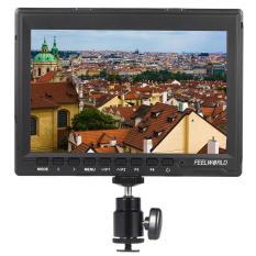 Feelworld FW74K Portable 7 Inch Ultra HD 1280*800 IPS Layar LCD Monitor Kamera Mendukung 4 K UHD 3840*2160 P (29.97/25/23.98) untuk Panasonic GH4 untuk Sony A7S FS7 untuk BMPCC Outdoorfree-Intl