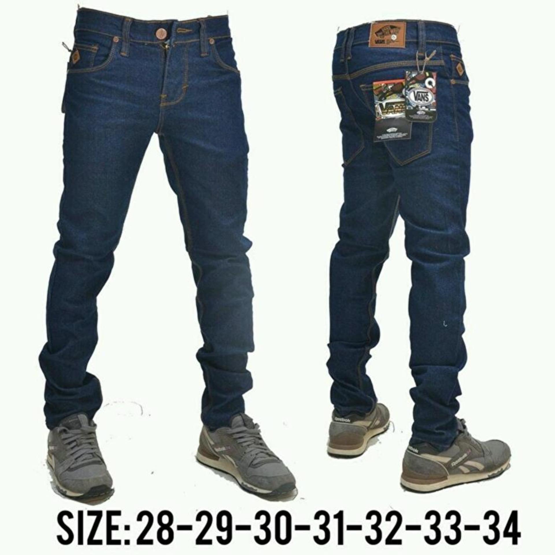 Promo Fg Celana Jeans Panjang Pria High Quality Skinny Dark Blue Di Jawa Barat