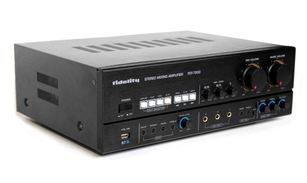 Fidelity Amplifier Karaoke Fdt 7200 Original