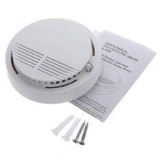 Finemall 5 Pcs Nirkabel Cordless Smoke Detector Rumah Keamanan Alarm Api Sistem Sensor Baterai-Internasional
