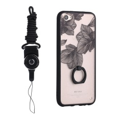 Finger Grip Stand Ring Hold Vantage Case 3D Relief Painting Hard Back Cover For VIVO V5 / V5s / Y67 with Lanyard