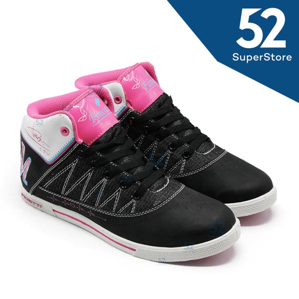 Finotti Sepatu Sekolah Sneaker M2M - Black/Fushia Size 36/40