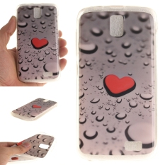Fit Soft TPU Phone Balik Case Cover untuk Lenovo A328 (berbentuk Hati DROP)