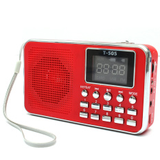 Jual Five Star Store Universal Mini Portable Home Digital Stereo Speaker Radio Tf Card Fm Radio Mp3 Red Intl