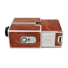 Beli Flanelade Portable Cardboard Smartphone Projector 2 Proyektor Portable Cokelat Online Murah