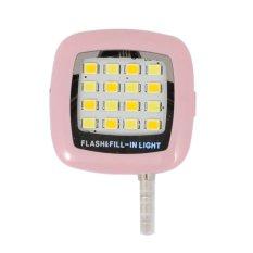Flash Lampu Selfie Untuk Semua Smartphone dan Semua Tipe Kamera - Pink