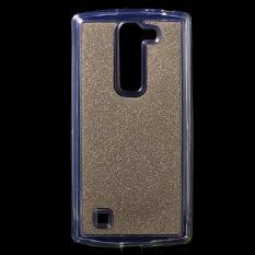 Flash Bubuk Dilapisi TPU Phone Kasus Penutup untuk LG Magna H502 F H500 F/G4c H525 N-emas