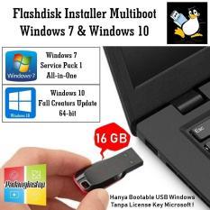 Flashdisk Installer Multiboot Windows 7 SP 1 AiO + Windows 10 Fall Creators Update (1709) 64-bit