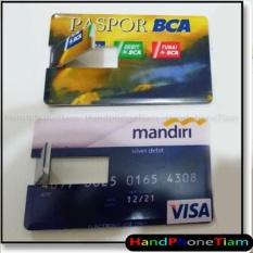 FLASHDISK KARTU ATM BCA+ Kapasitas 8 GB + Bahan Kartu yang kuat dan anti air + Menggunakan Chip ASLI / OEM (Original Equipment Manufacturer) bukan yang KaWe