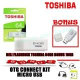 Promo Flashdisk Toshiba 64Gb Bonus Flashdisk Toshiba 16Gb Dan Otg Dki Jakarta
