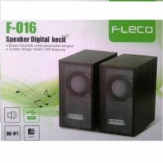 FLECO F-016 USB 2.0 Mini Speaker PC Hitam