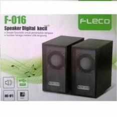 Fleco F-016 Wooden USB 2.0 Mini Speaker PC