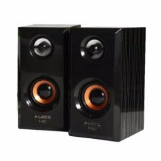 Harga Fleco F 017 Wooden Usb 2 Mini Speaker Pc Merk Fleco