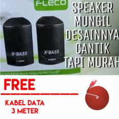 Fleco F 018 X-Bass Power Sound Mini USB Speaker Free Kabel Data 3 Meter