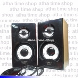 Jual Fleco F 023 Wooden Usb 2 Mini Speaker Pc Branded Original