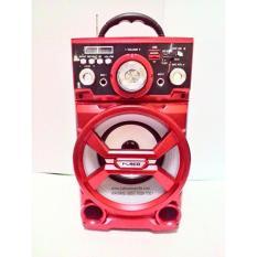 Spesifikasi Fleco Speaker Portable Radio Sd Usb Music Player Karaoke Sd502 Beserta Harganya