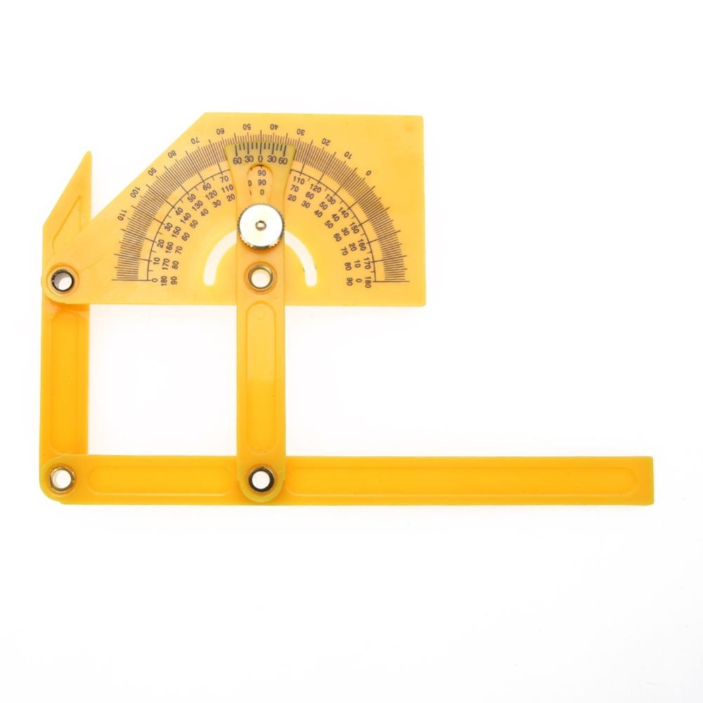 Rulers Stencils Oem Penggaris Siku Fleksibel Plastik Sudut Kalibrasi Protractor Finder 180 Kuning Intl