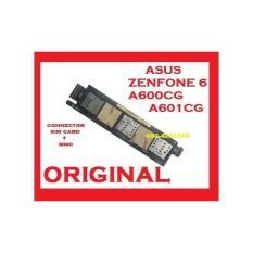 FLEXI CONNECTOR SIM CARD + MMC ASUS ZENFONE 6 (A600) ORI (902501)